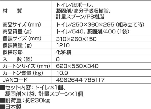 組立式緊急トイレ凝固剤40回分付